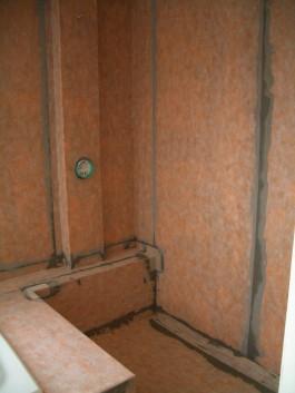 Fully waterproofed kerdi shower