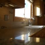 Porcelain and Glass Tile Kitchen Backsplash Remodel in Windsor