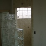Glass Block wall installation in Loveland