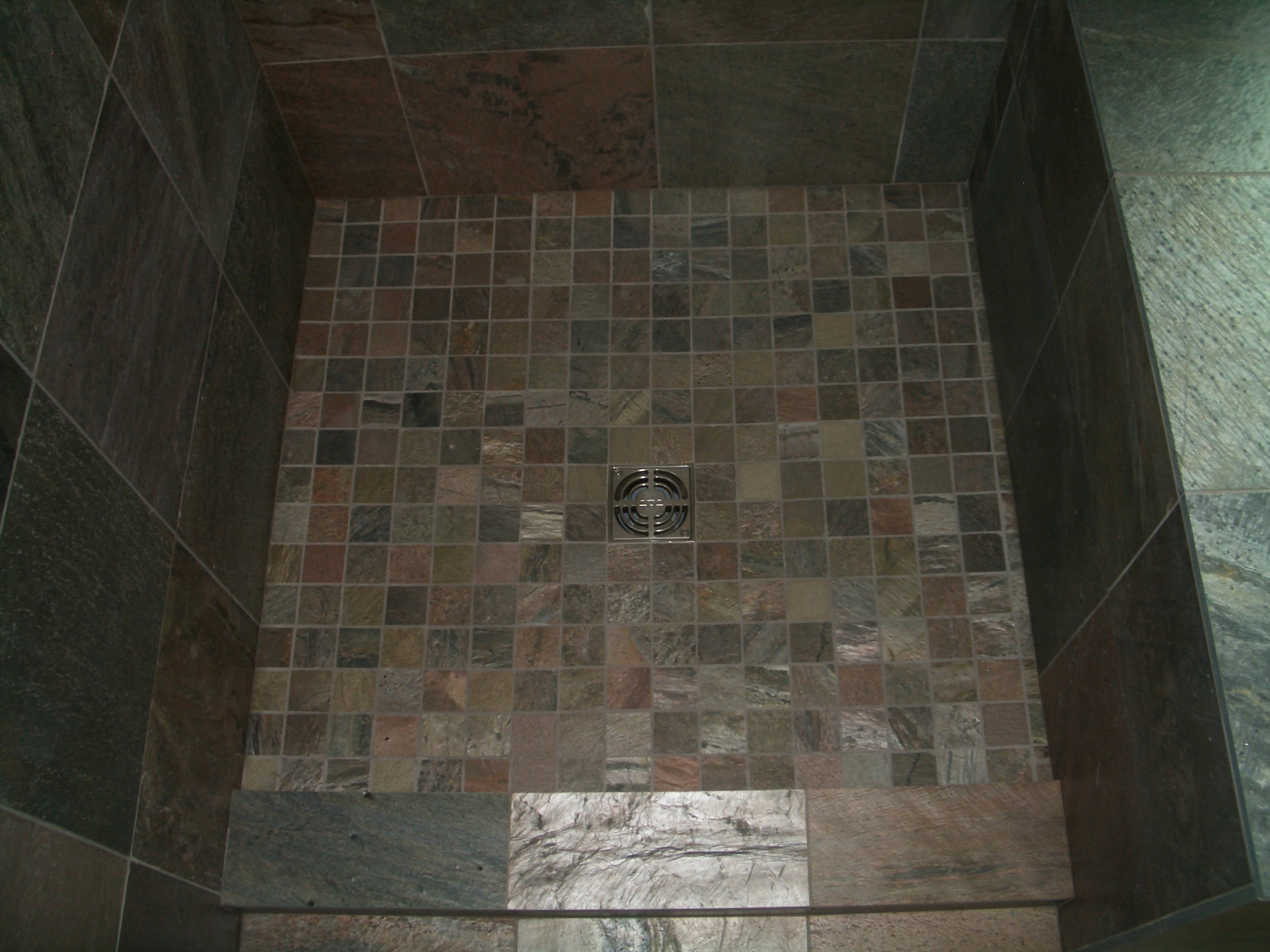 Slate Master Bathroom Installation In