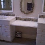 Bathroom Glass tile vanity backsplash in Fort Collins, CO