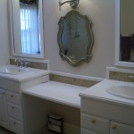 Bathroom Glass tile vanity backsplash contractor in Fort Collins, Colorado