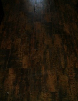 Porcelain plank flooring installation in Fort Collins, Colorado