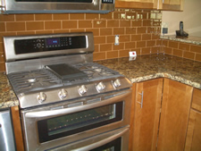 Glass tile backsplash in Loveland, Colorado